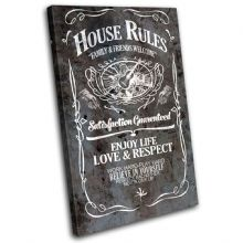 House Rules Swirls Typography - 13-6066(00B)-SG32-PO